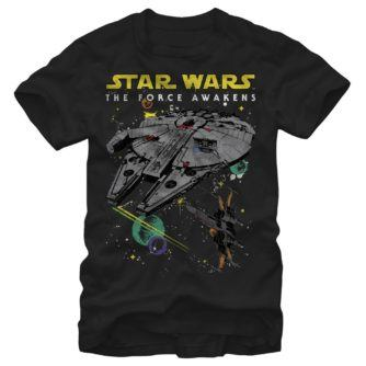 Episode VII Millennium Falcon and X-Wing Tshirt