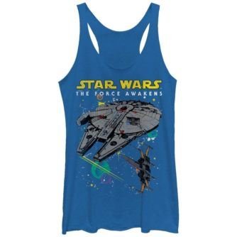 Episode VII Millennium Falcon and X-Wing Women's Tank Top